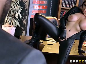 off the hook agent Romi Rain gets pussy deep with the boss