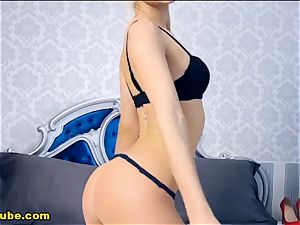 sizzling ash-blonde undress show And cam play