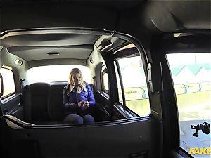 faux taxi platinum-blonde gets backseat discount