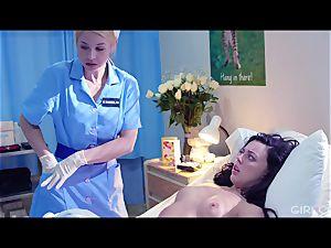 GIRLCORE g/g Nurses Give teenage Patient Vaginal exam