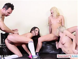 marvelous Aaliyah love boinking in four way
