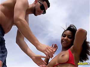 Nicole Bexley taken from the beach and railing big boner