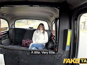 fake cab rigid penetrating rocks cab taxi with tight honeypot