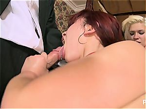 two young schoolgirl lesbians merit the sausage