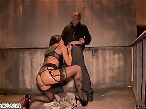 Romi Rain - awesome hot fledgling porn in the street