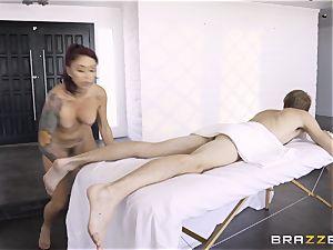 Monique Alexander secretly taking the enormous monster jizz-shotgun of Danny D in the ass