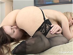 milf Nina gives her stepdaughter a going away present