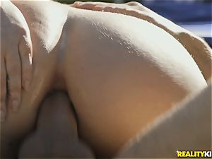 super-fucking-hot bootie Maddy OReilly railing bone