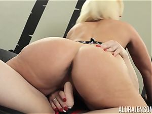 Alura Jenson cootchie filled with belt dick powerful muscular girl Brandi May