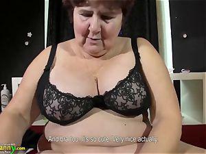 OldNannY huge-boobed bbw elderly Mature grannie Compilation