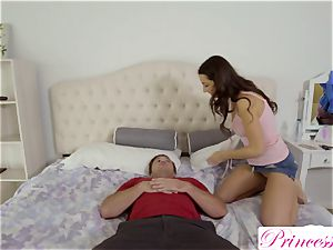 Lily Adams pokes her crazy stepbrother