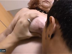 AgedLovE plus-size granny Chubbies enjoying xxx