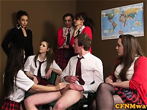female dom cfnm lecturer abase boy in class