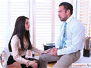 Office masturbation session concludes with sudden shagging