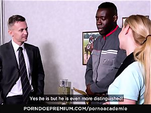 porn ACADEMIE - anal three-way with towheaded college girl