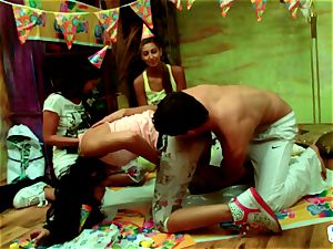 party games and pink cigar sharing