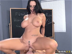 huge-boobed professor Ava Addams is porked by her college girl
