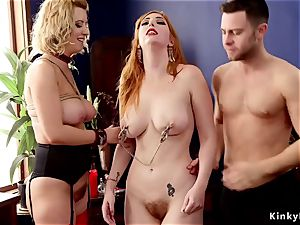 bondage & discipline duo buttfuck porks huge jugs red-haired