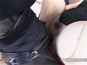 female domination slaps super-bitch puss playthings face penetrates and missionary
