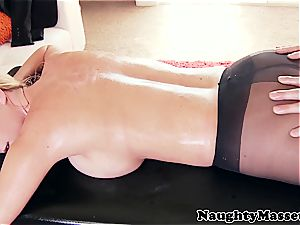 big-titted female oiled up before excellent anal fuckfest
