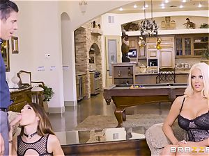 cum-swapping bombshells Adriana Chechik and Nicolette Shea plumbed deep